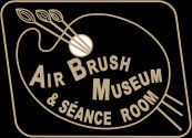 The Airbrush Museum logo is fashioned after the logo on the Liberty Walkup airbrush, an homage. - Airbrush history from The Airbrush Museum featuring Paasche, Wold, Walkup, Iwata, Aerograph, Badger,  and  more! Graphic created using Adobe Illustrator.