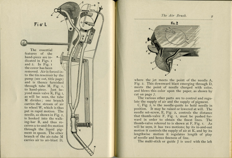 Pages 8 & 9 of the 1880's Air Brush Mfg. Co. Brochure.