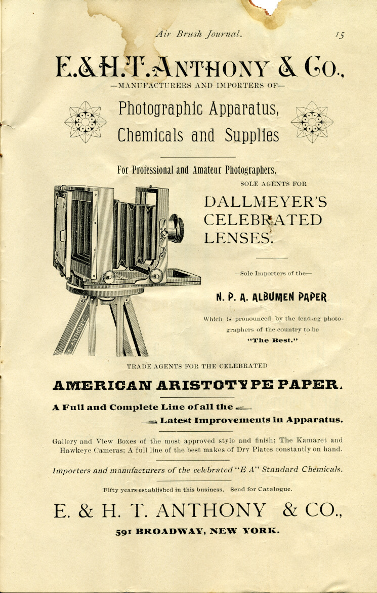 Page 15 of the 1892 Air Brush Journal magazine by Liberty Walkup & the Air Brush Mfg. Co.